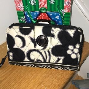 Vera Bradley Night and Day print turn lock wallet